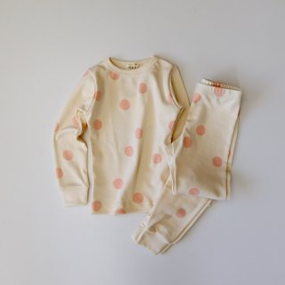 <img class='new_mark_img1' src='https://img.shop-pro.jp/img/new/icons14.gif' style='border:none;display:inline;margin:0px;padding:0px;width:auto;' />organic cotton spotted pajamas - pink dot