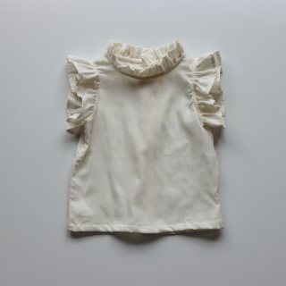 <img class='new_mark_img1' src='https://img.shop-pro.jp/img/new/icons14.gif' style='border:none;display:inline;margin:0px;padding:0px;width:auto;' />loulou flutter sleeve blouse - cream cotton gauze