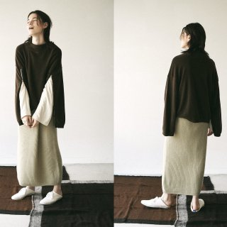 <img class='new_mark_img1' src='https://img.shop-pro.jp/img/new/icons14.gif' style='border:none;display:inline;margin:0px;padding:0px;width:auto;' />blueface&cashmere belted skirt - grass beige