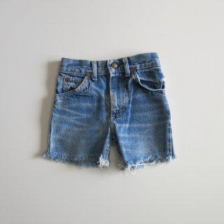 used denim cut off shorts