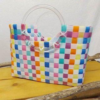 プラスチックかごバッグ ハンドバッグタイプ