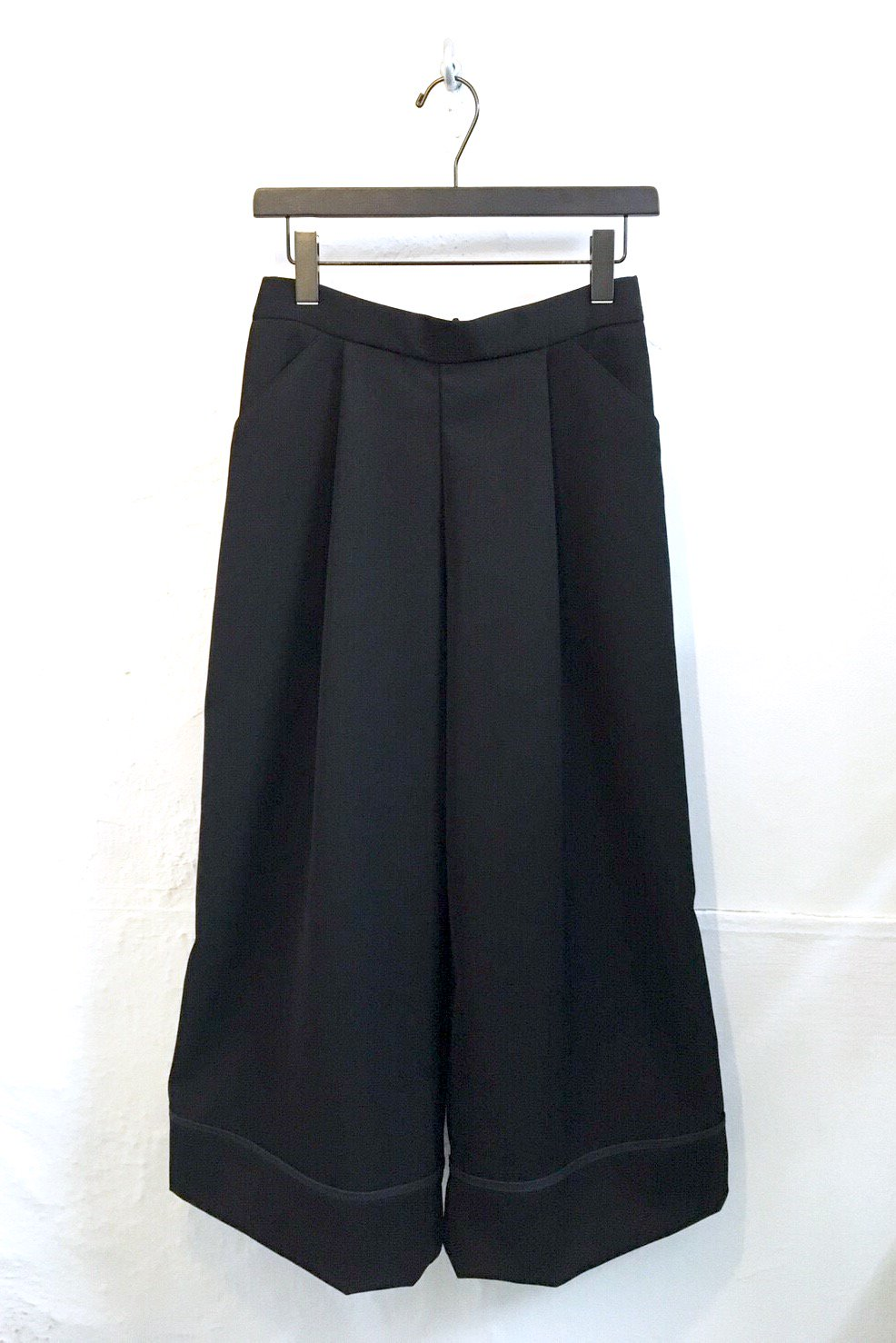 WIDE PANTS  -BLACK-