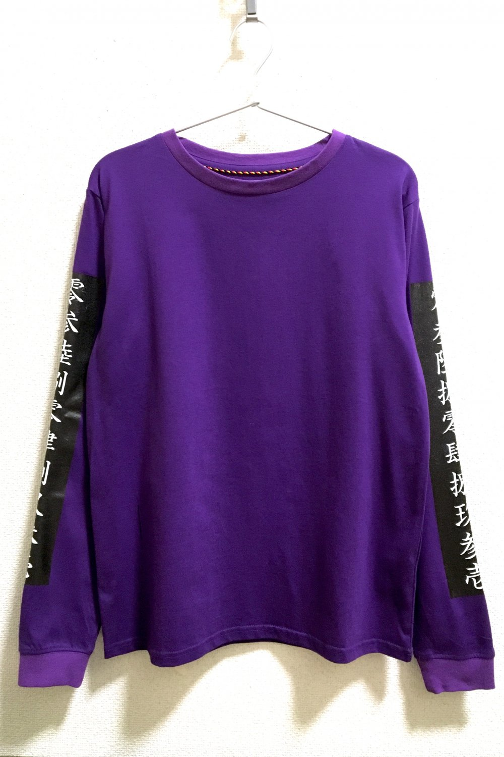 KANJI SLEEVE<br />LONG-T<br />PUR / BK / WH