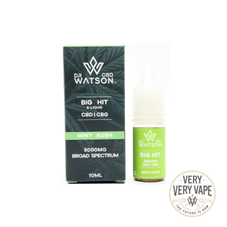 【DR WATSON CBD】<br>5000mg<br>Mint Kush<br>BIGHIT E-liquid