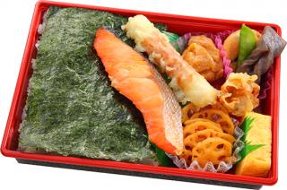 紅鮭のり弁当