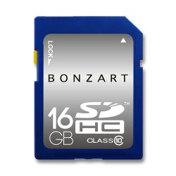 BONZART SDHCカード<br>16GB CLASS10
