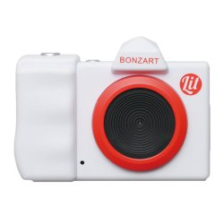 トイカメラ<br>BONZART Lit+ ホワイト<br>30万画素