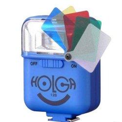 ストロボ<br>HOLGA ホルガ 12S<br>ブルー<br>カラーフィルター付き