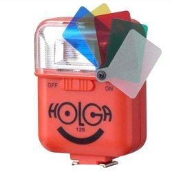 ストロボ<br>HOLGA ホルガ 12S<br>レッド<br>カラーフィルター付き