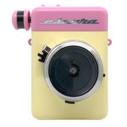 インスタントカメラ<br>Escura instant 60's ピンク<br>手回しチェキfilm用カメラ