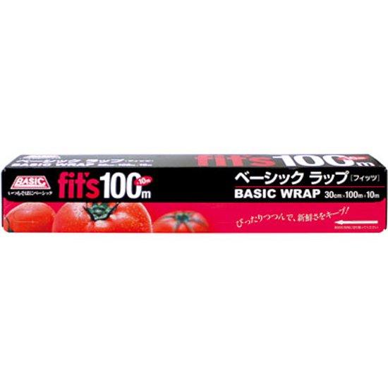 BASIC ラップ [Fit's] 30cm×100m+10m  1本入