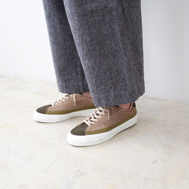 ASAHI アサヒ BELTED ベルテッド LOW SUEDE OLIVE / TAUPE