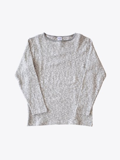 <img class='new_mark_img1' src='https://img.shop-pro.jp/img/new/icons21.gif' style='border:none;display:inline;margin:0px;padding:0px;width:auto;' />【40%OFF】Tieasy Organic Boatneck Basque Shirt - Mix Charcoal