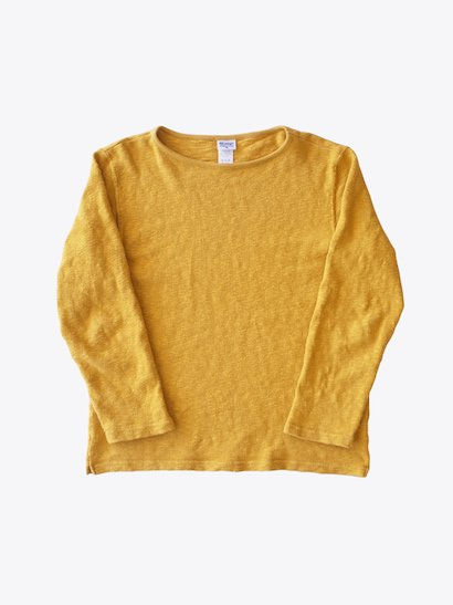 <img class='new_mark_img1' src='https://img.shop-pro.jp/img/new/icons21.gif' style='border:none;display:inline;margin:0px;padding:0px;width:auto;' />【40%OFF】Tieasy Organic Boatneck Basque Shirt - Mustard