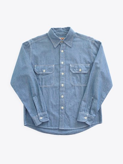 <img class='new_mark_img1' src='https://img.shop-pro.jp/img/new/icons21.gif' style='border:none;display:inline;margin:0px;padding:0px;width:auto;' />【20%OFF】CAMCO Chambray Shirt - Blue