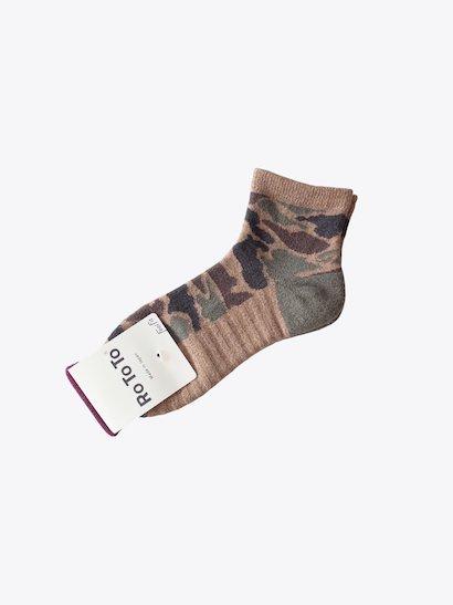 <img class='new_mark_img1' src='https://img.shop-pro.jp/img/new/icons21.gif' style='border:none;display:inline;margin:0px;padding:0px;width:auto;' />【30%OFF】RoToTo Camo Short Socks - Dark Camo