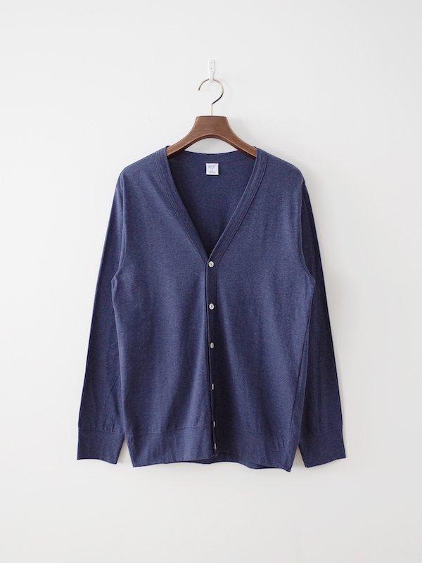 gicipi Silkete Cotton Cardigan - Blu Melange