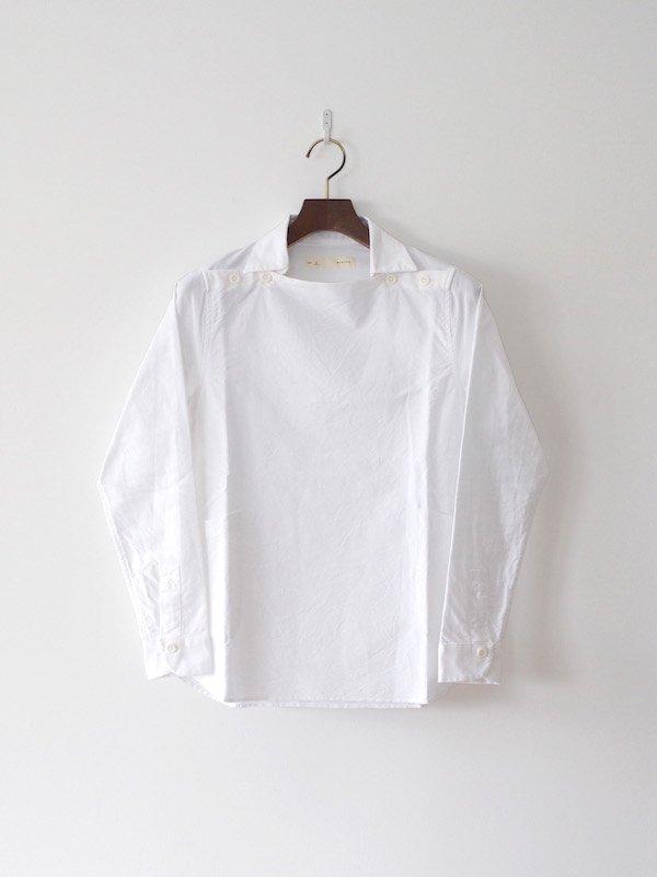 nisica  長袖デッキマンシャツ White