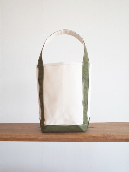 TEMBEA  Baguette Tote Small - Natural / Olive