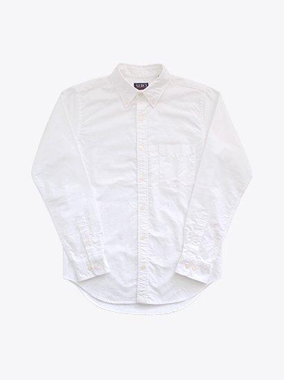 SERO 長袖ボタンダウンシャツ White