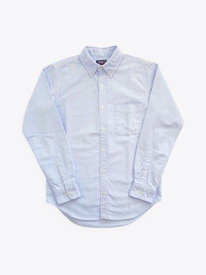 SERO 長袖ボタンダウンシャツ Blue