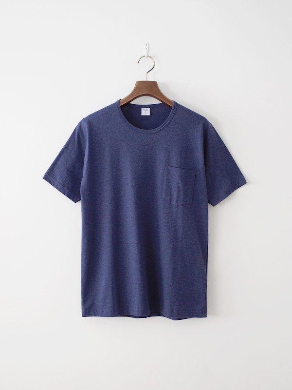 <img class='new_mark_img1' src='https://img.shop-pro.jp/img/new/icons21.gif' style='border:none;display:inline;margin:0px;padding:0px;width:auto;' />【30%OFF】gicipi シルケットコットンポケットTシャツ Blu Melange