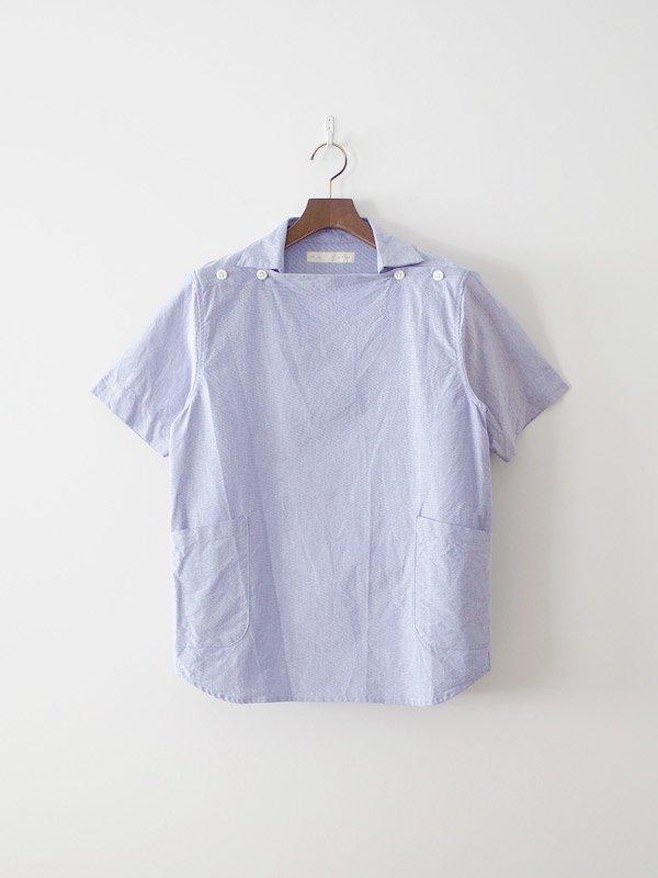 nisica 半袖デッキマンシャツ Blue
