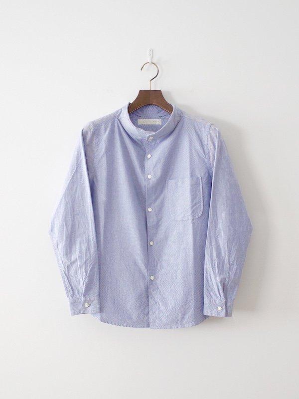 nisica 長袖ガンジーネックシャツ Blue