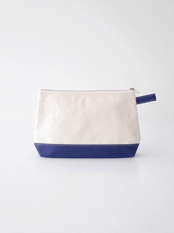 TEMBEA Toiletry Bag Large - Natural / Navy