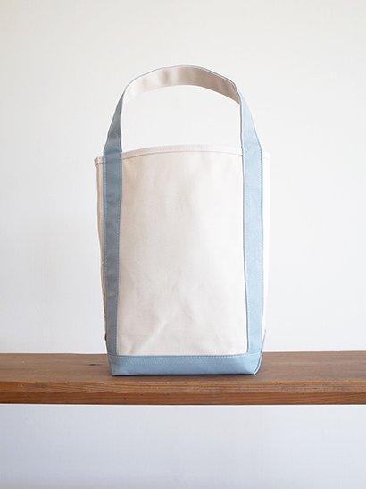 TEMBEA  Baguette Tote - Natural / Blue Gray