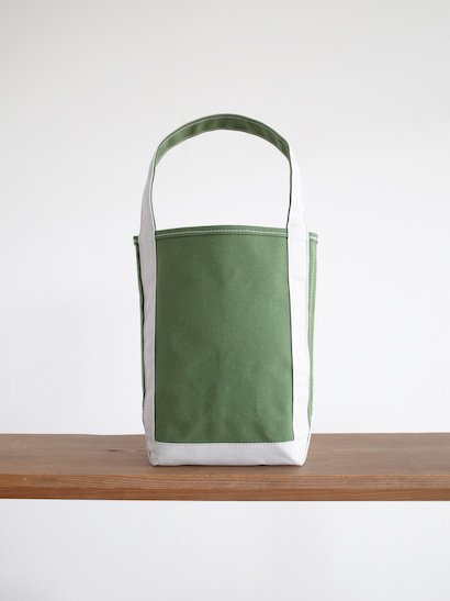 TEMBEA  Baguette Tote Small - New Olive / Lt Gray