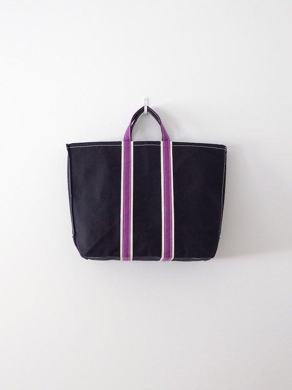 TEMBEA 3 Tone Tote - Black × Natural / Purple