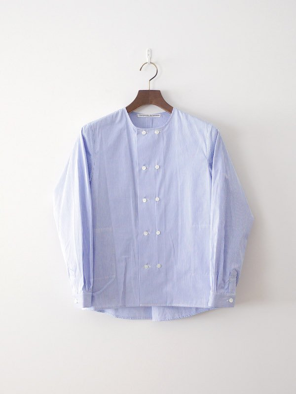 Charpentier de Vaisseau Sandy ダブルボタンシャツ White × Lt Blue