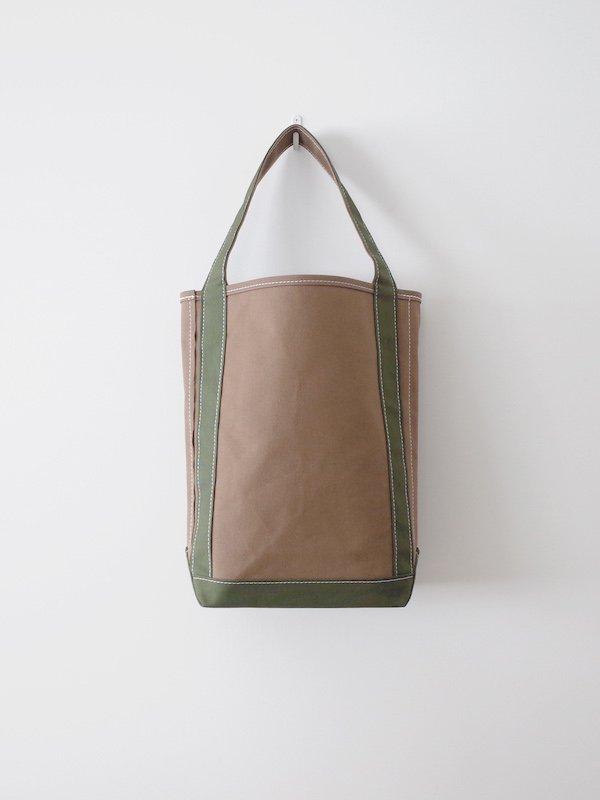 TEMBEA Baguette Tote - Khaki / Deep Green