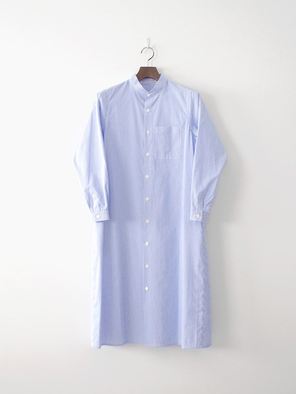 Charpentier de Vaisseau Dolly コットンシャツワンピース White / Lt Blue