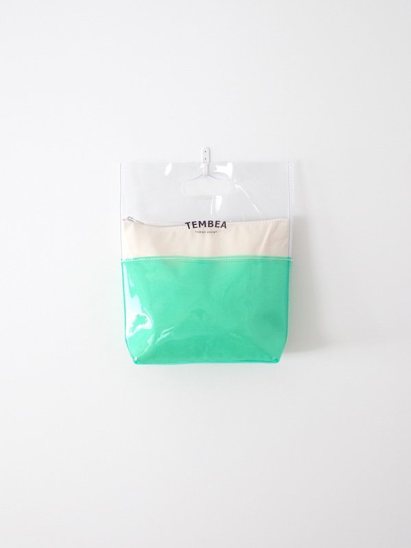<img class='new_mark_img1' src='https://img.shop-pro.jp/img/new/icons21.gif' style='border:none;display:inline;margin:0px;padding:0px;width:auto;' />【30%OFF】TEMBEA Vinyl Bag Small 2Tone PVC - Clear / Green