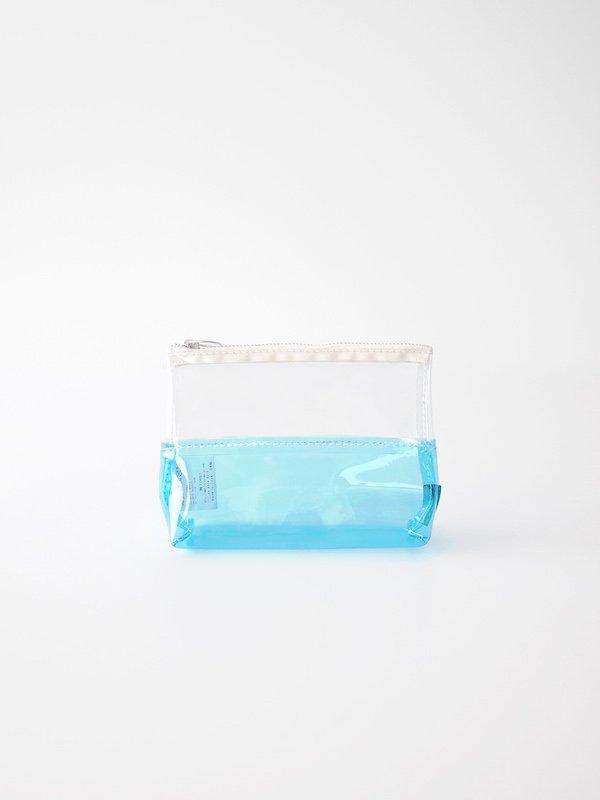 TEMBEA Toiletry Bag 2Tone PVC - Clear / Blue