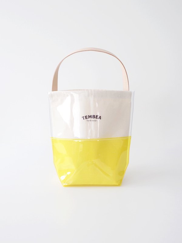 TEMBEA Baguette Tote 2Tone PVC - Clear / Yellow