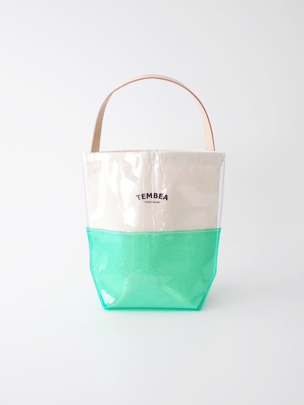 <img class='new_mark_img1' src='https://img.shop-pro.jp/img/new/icons21.gif' style='border:none;display:inline;margin:0px;padding:0px;width:auto;' />【30%OFF】TEMBEA Baguette Tote 2Tone PVC - Clear / Green