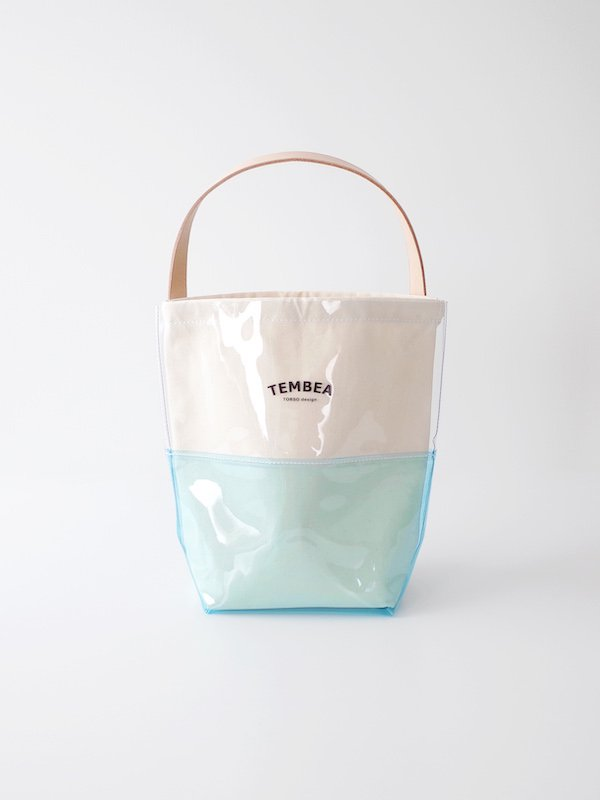 TEMBEA Baguette Tote 2Tone PVC - Clear / Blue