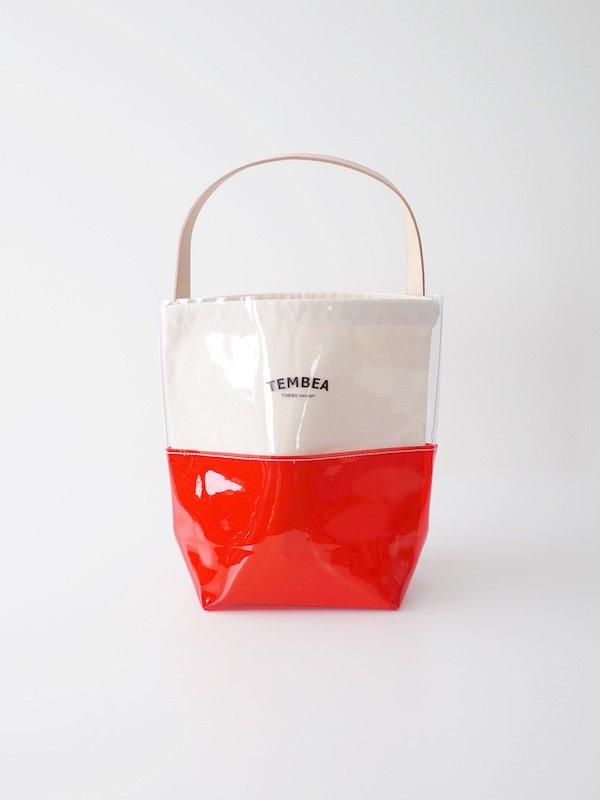 TEMBEA Baguette Tote 2Tone PVC - Clear / Red