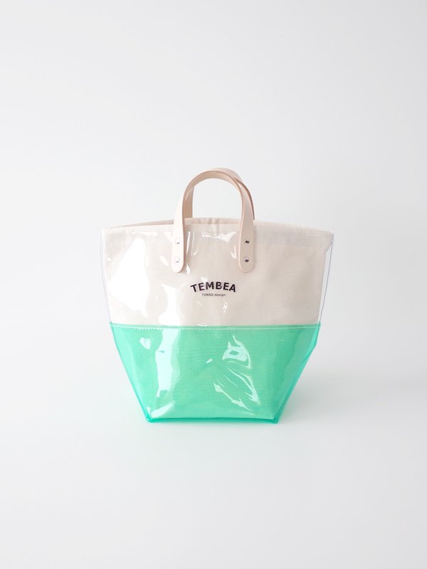 <img class='new_mark_img1' src='https://img.shop-pro.jp/img/new/icons21.gif' style='border:none;display:inline;margin:0px;padding:0px;width:auto;' />【30%OFF】TEMBEA Delivery Tote 2Tone PVC - Clear / Green