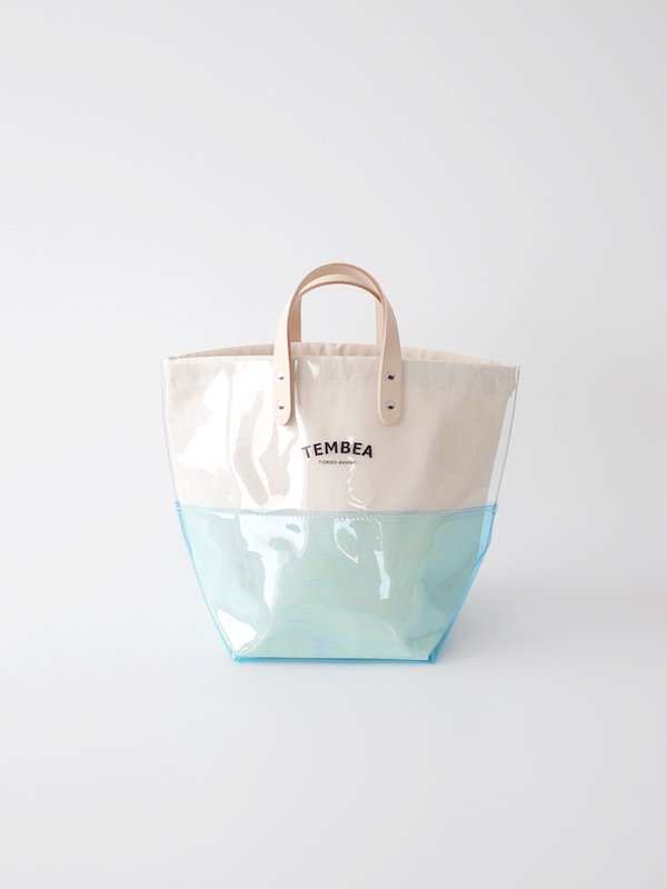 TEMBEA Delivery Tote 2Tone PVC - Clear / Blue