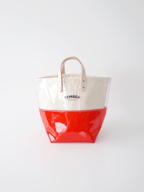 <img class='new_mark_img1' src='https://img.shop-pro.jp/img/new/icons21.gif' style='border:none;display:inline;margin:0px;padding:0px;width:auto;' />【30%OFF】TEMBEA Delivery Tote 2Tone PVC - Clear / Red