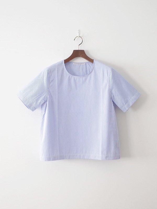 Charpentier de Vaisseau Spencer 半袖クルーネックシャツ White × Lt Blue
