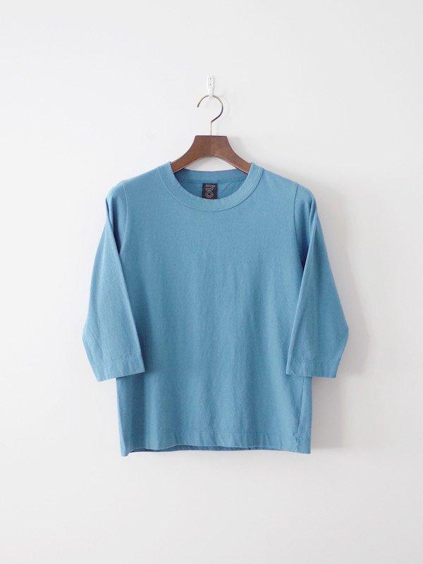homspun 天竺七分袖Tシャツ サックス