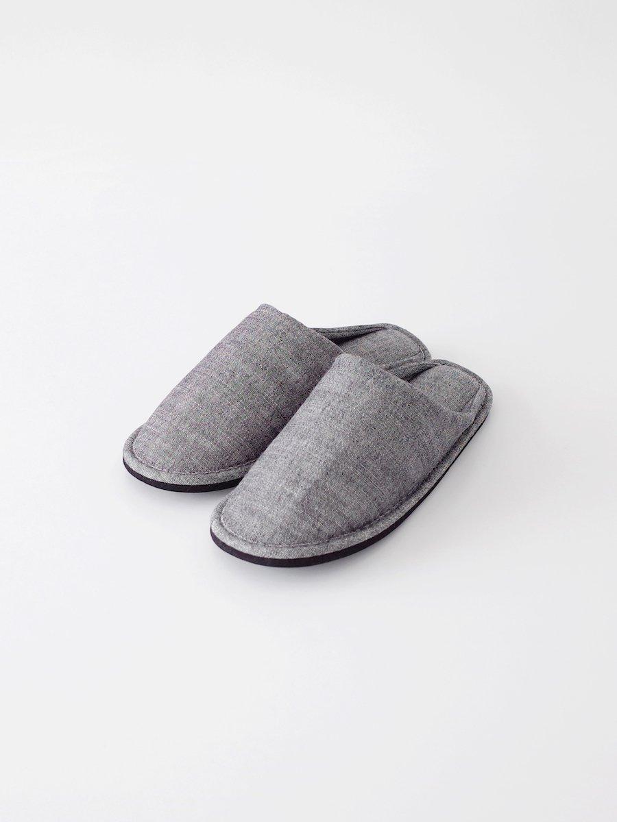 F/style 亀田縞のスリッパ 生成紺