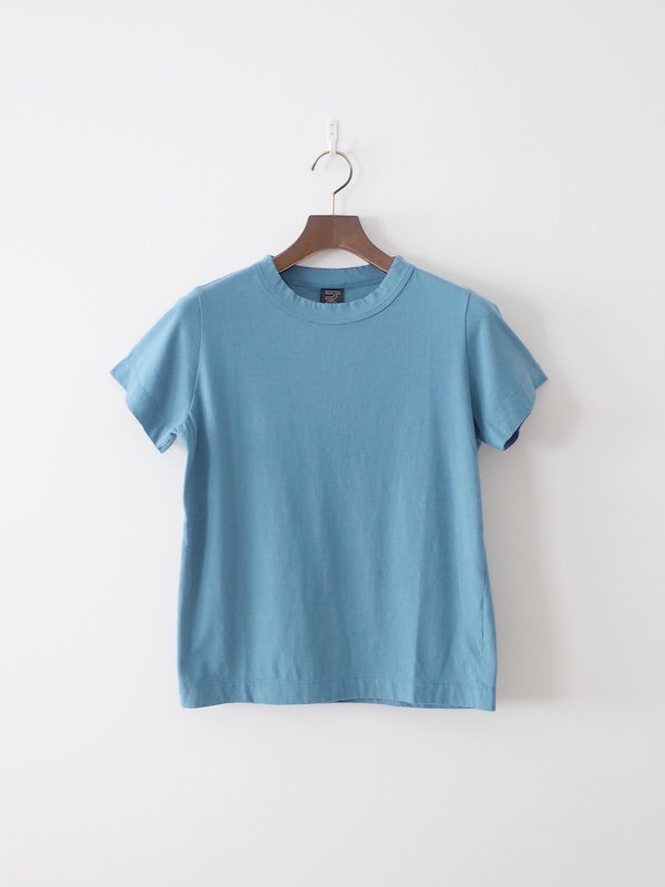homspun 天竺半袖Tシャツ サックス