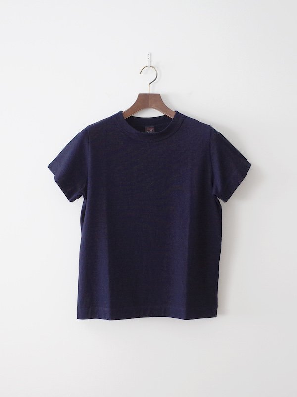 homspun 40/2 インディゴ天竺半袖Tシャツ 濃インディゴ