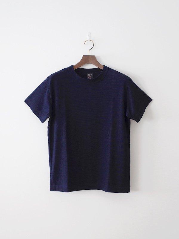 homspun 40/2 インディゴ天竺半袖Tシャツ 濃インディゴ(メンズ)